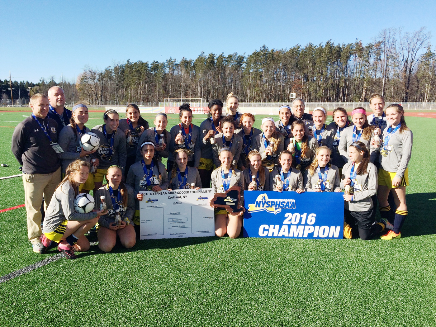 Spencerport girls' soccer brought home the school's first state title and finished #4 in the nation in the final USA Today poll. Provided photo