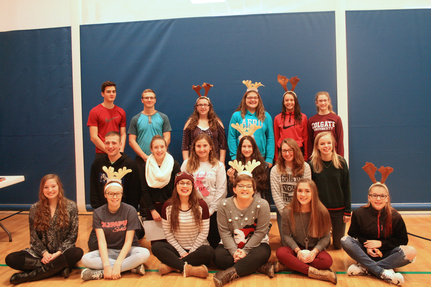Holley High School students worked tirelessly to bring gifts to 141 children this year. Provided photo