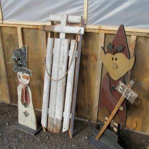 Brightly's Farm Market in Hamlin has many seasonal outdoor garden decorations. These would make very fun gifts for the gardener on your list who likes rustic elements in the garden - or on the porch. K. Gabalski photo