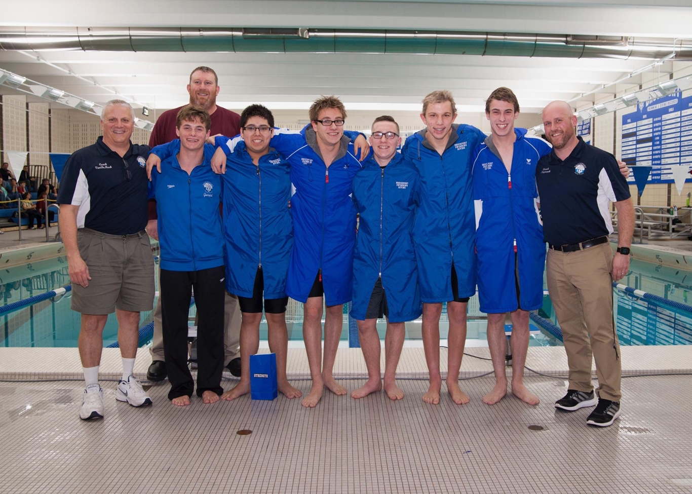 Brockport senior swimmers.