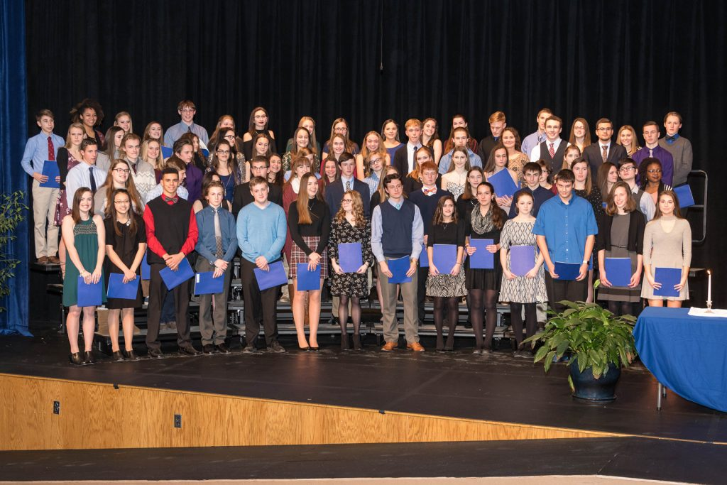 Brockport High School National Honor Society inductees.