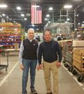 Assemblyman Steve Hawley (right) poses for a photo with Liberty Pumps President and CEO Charlie Cook.