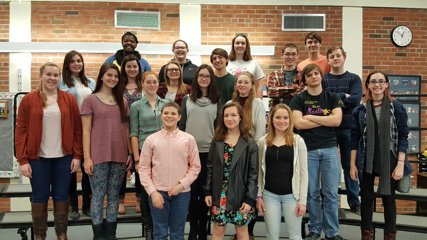 Brockport CSD All County music students: Row one - NJ Wingo, Claire Gratto and Molly Falkenstein; row two - Abigail Foley, Taylor Murphy, Jennifer Lippa, Grace Crowe, Kaylyn Weits, Gavin Tremblay and Clara Barrett; row three - Alyssa Gilzow, Morgan Costello, Elizabeth Gaffney, Jakeb Specht, Isaac Barrett and Griffin Smith; Row 4: Nzinga Marah, Kayla Mosher, Mikayla Canham and Xavier Vogel. Provided photo