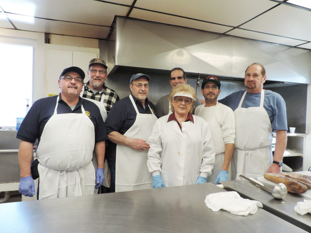The Great Kitchen Crew (l-r): Kos Mihalitsas, Paul Serrianni, Ziti Dinner Chairperson Joe Marasco, Alice Sidoti, Jim Marasco, Buddy Marasco and Dom Tantillo. Provided photo
