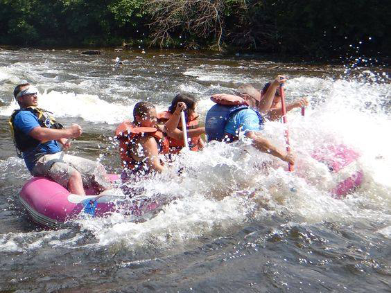 Rafters experiencing one of the many rapids on the Genesee River in Letchworth State Park. Provided photo