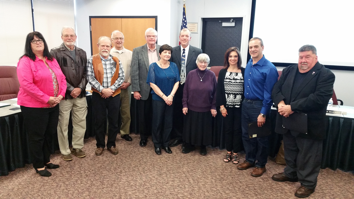 The 2017 Hilton Central School District Friends of Education (l-r): Laurie Polatas, Chuck Nichols, John Adams, Frank Thomas, John Corcoran, Sue Raschke, Dr. Michael Fryer, Nancy Guenther, Christine and Charlie Martella and Joe Lee. Not shown, Daniel Butts. Provided photo