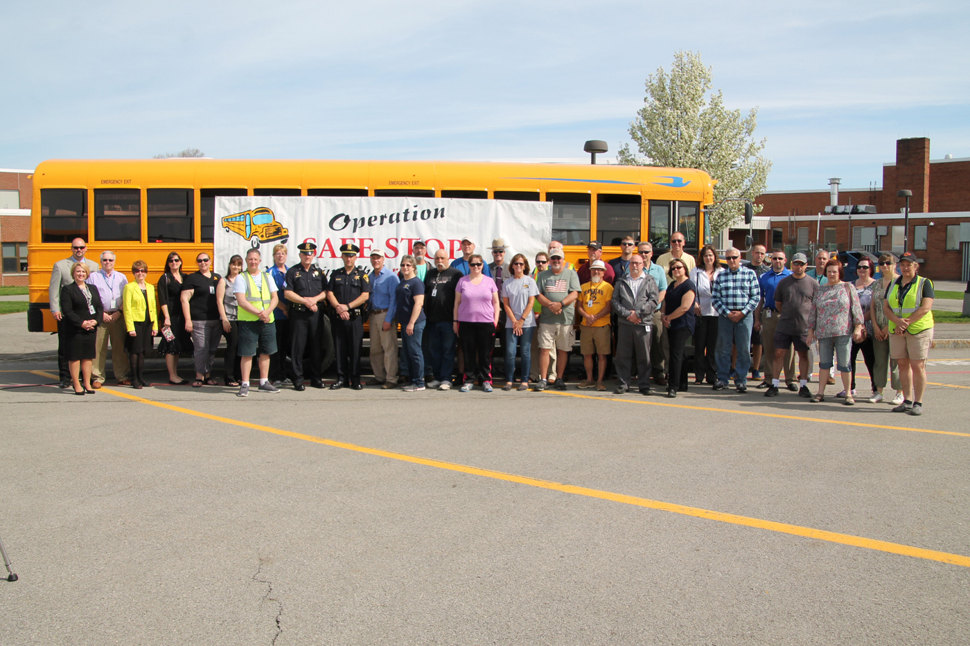 Local authorities, as well as elected leaders, joined with Spencerport Central School District for Operation Safe Stop on April 27. Provided photo