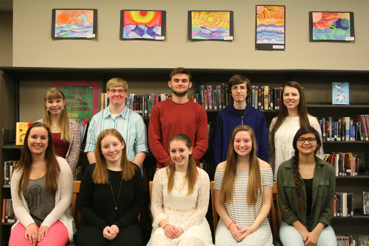 Top 10 Holley High Seniors (l-r):  Front - Corinne Johnson, Megan Hatfield, Brooklynn Bartholomew, Claudia Drechsel and Veronica Mendoza; back - Megan Fribance, Anna Brasted, Christopher Balys, Jesse Beach and Diana Yaroshchuk. Provided photo
