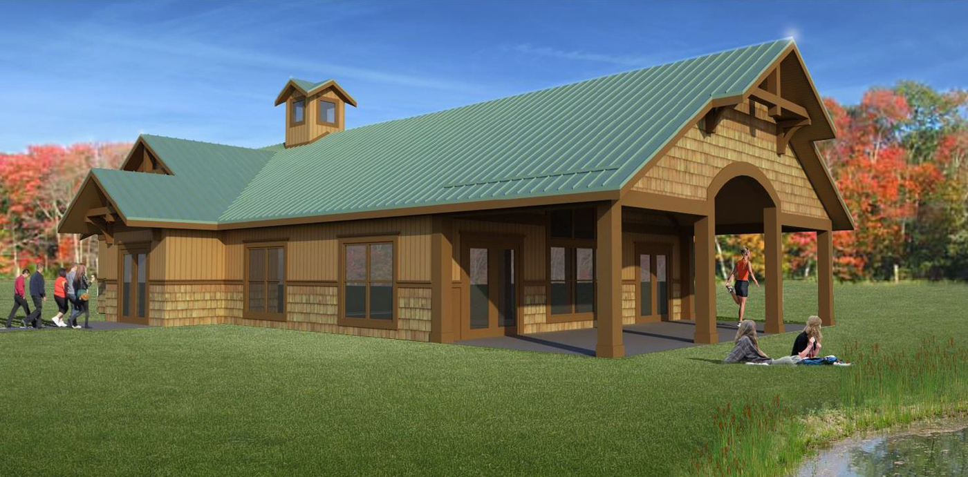 A rendering of the future Sweden Park Lodge. Provided by the Town of Sweden