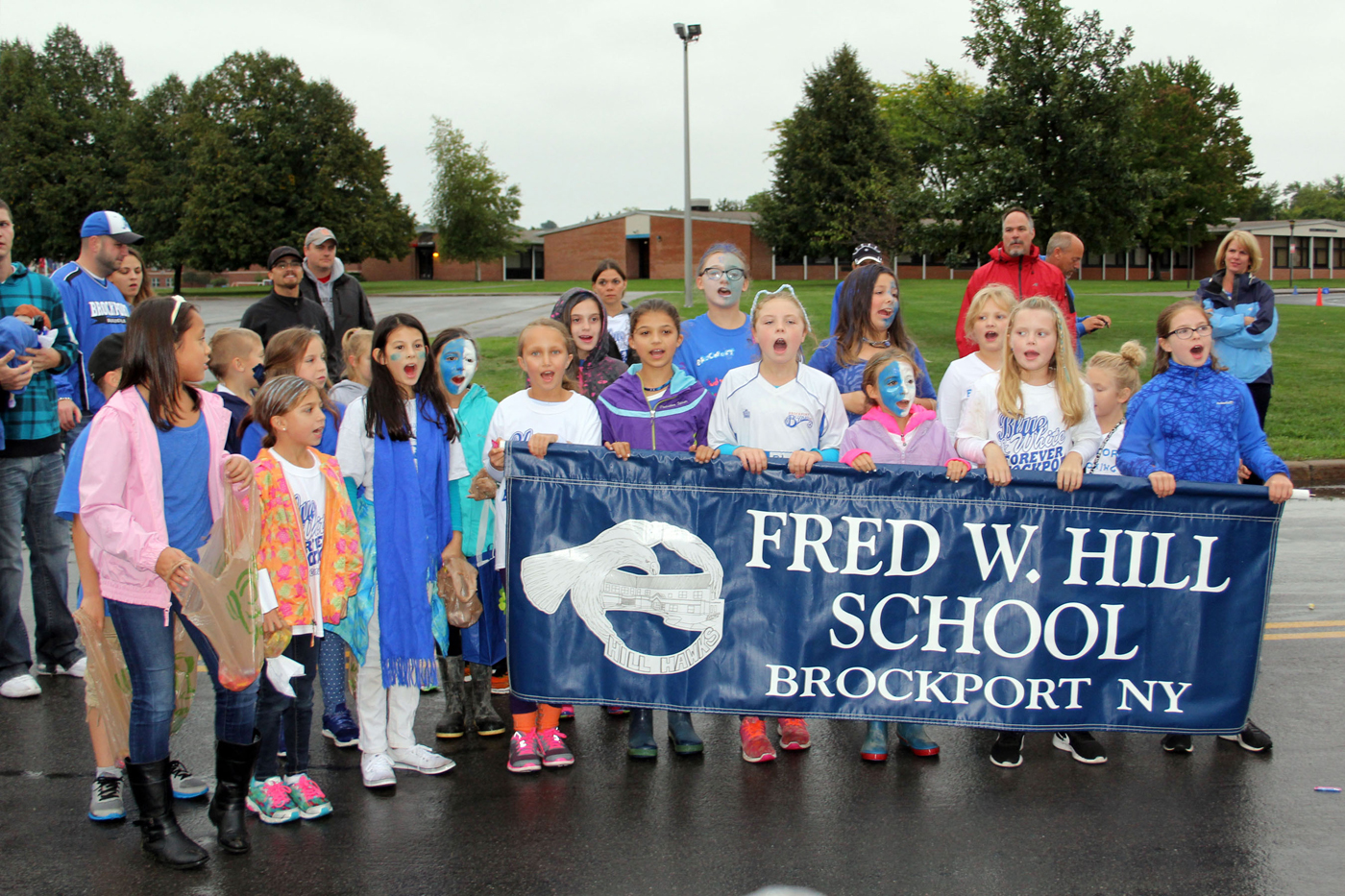Hill School students perform in the 2016 Brockport Central School District Homecoming Parade. Provided photo