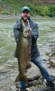 Michael Hendrick applied Eric Crosby's salmon fishing tactics to land this behemoth king. Provided photo