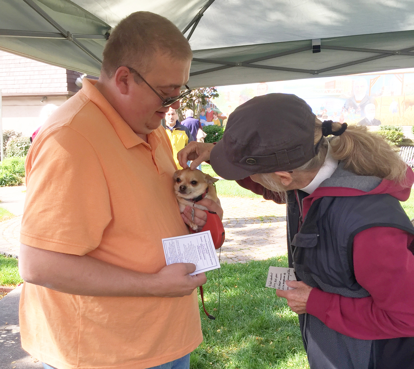 Bruce Boehl and his dog Dobbie celebrated last year's Blessing of the Animals hosted by St. Luke's Episcopal Church and look forward to this year's event on October 8. Dobbie received his own individual blessing and Bruce received a blessing card to commemorate the event. Provided photo