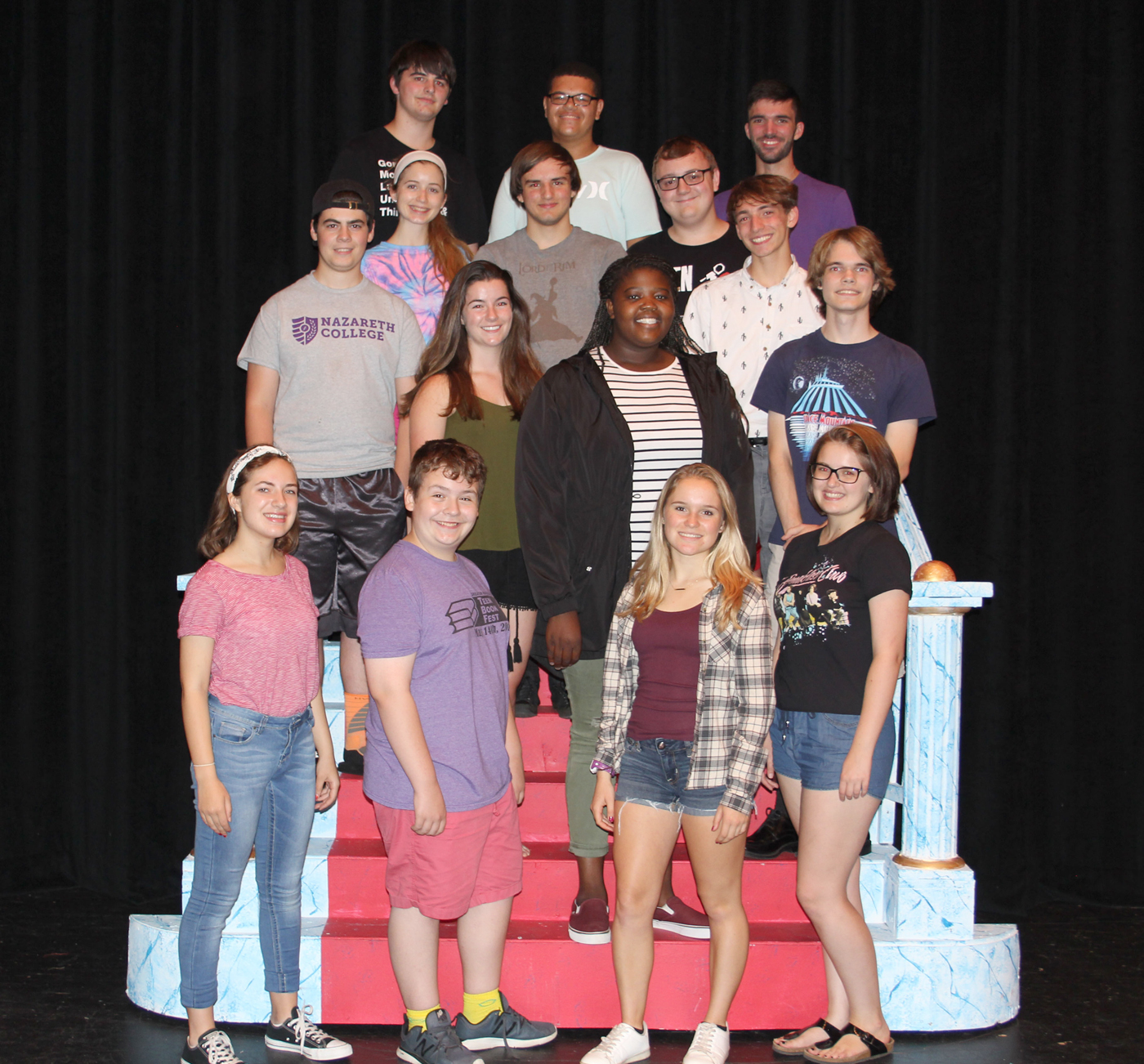 "Brockport High School Drama Club's ""Curtains"" cast: Row 1 - Claire Gratto, Calvin Cavagnaro, Molly Falkenstein, Shay Gauthier; row 2 - Josh Cappadonia, Morgan Costello, Nzinga Marah, James McAllister; row 3 - Emma Michels, Gavin Tremblay, Neil Czerniak IV, Jakeb Specht; row 4 - Sam Sevor, Trevon Helms, John Dowdell. Provided photo"
