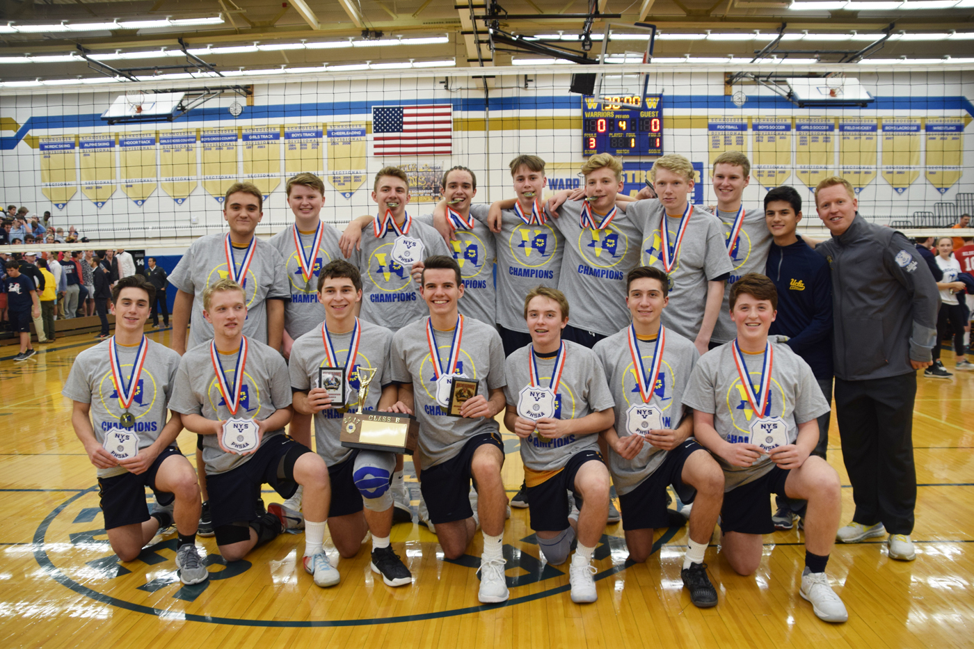 Spencerport Rangers Boys' Class B Section V champions. Provided photo