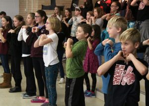 A few of the talented performers at Byron-Bergen Elementary School's November Character Assembly. Provided photo