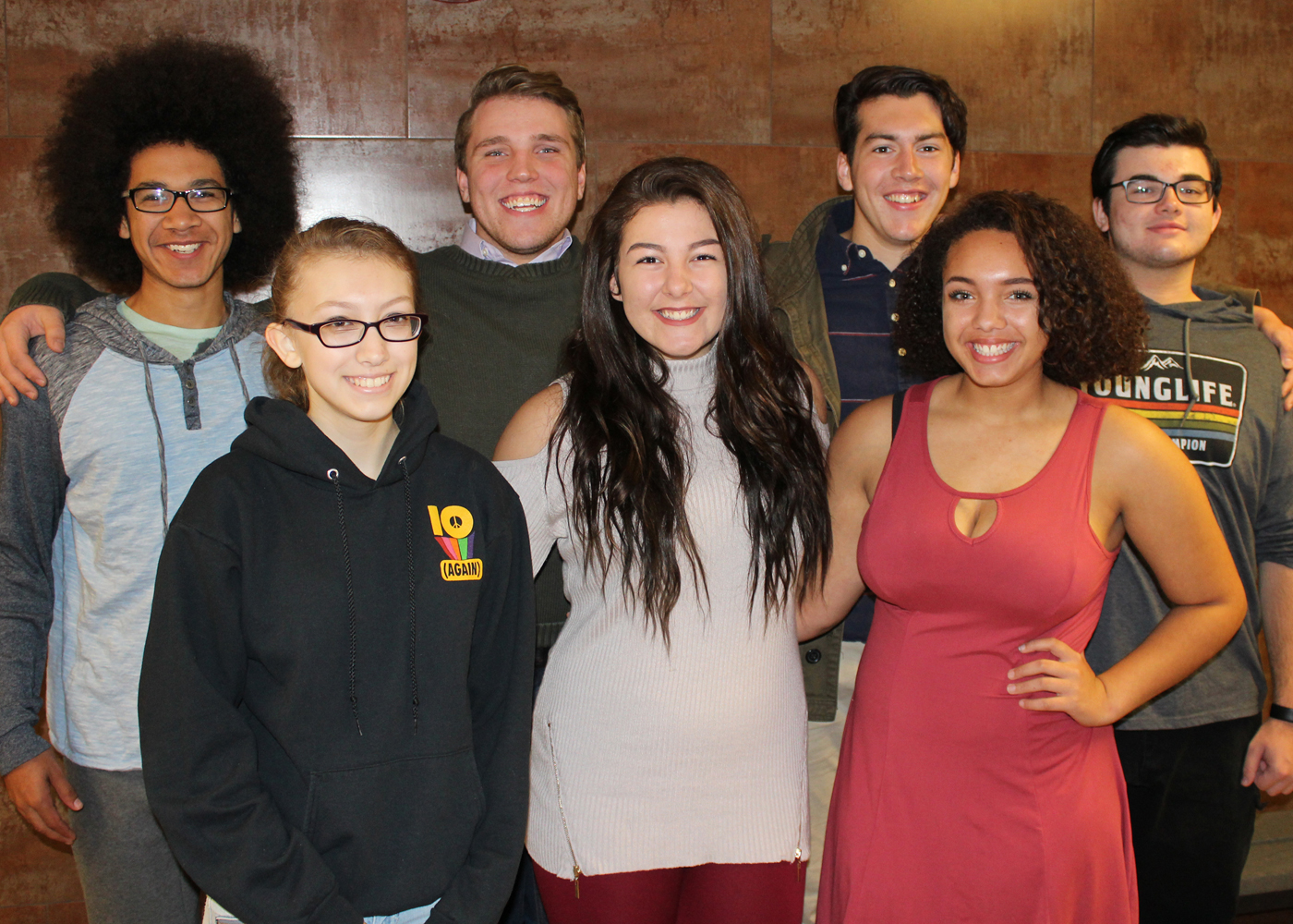 Byron-Bergen's top vocal talents prepare for their debut with the RPO Festival High School Chorale at the season's Gala Holiday Pops concert. (l-r) Jerome Spinks, Esther Wilkins, Mason Fuller, Stephanie Buell, Josh Phelps, Hannah VanSkiver and Brian Ireland. Not present: Sydney Brown. Provided photo