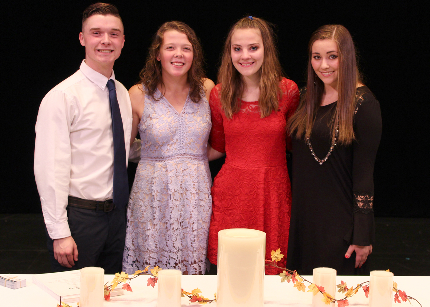 NHS Officers (l to r) Jon Sanfratello (President); Quinn Metcalfe (Vice President); Maria Esposito (Secretary) and Jenna Prewasnicak (Treasurer). Provided photo
