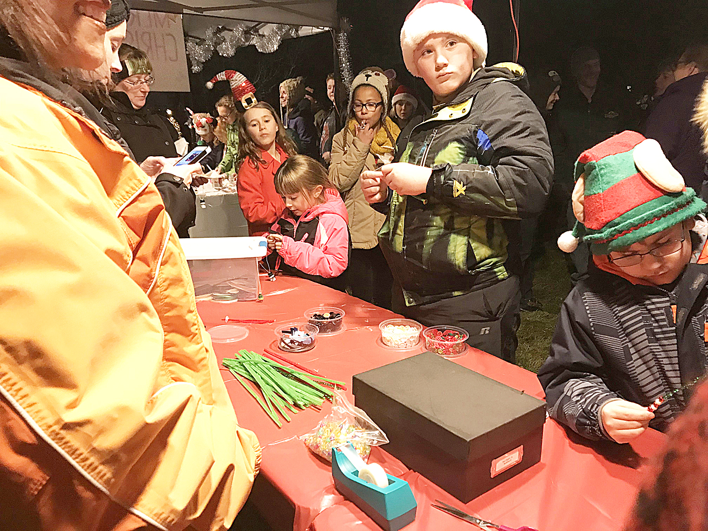 Ornament making with Bergen School of the Arts. Provided photo