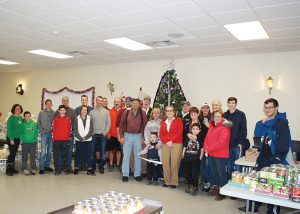 Volunteers from the Byron-Bergen learning community packed over 100 food baskets and delivered them during the weekend of December 16.