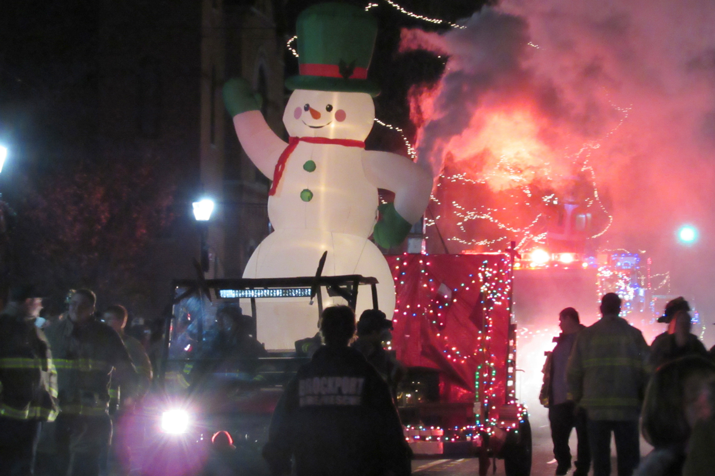 The Brockport Fire Department's impressive entry won 2nd Place. K. Gabalski photo