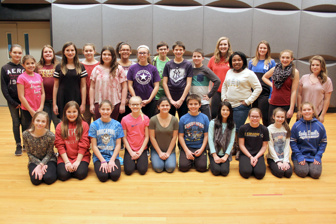 "The cast of Oliver Middle School's production of ""The Little Mermaid Jr."" Provided photo"