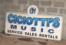 Ciciotti's Music operated out of the building for many years. Provided photo