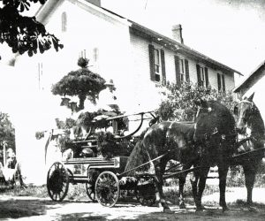 Hiltons's second school was built in 1853 at Dunham's Corners (Henry Street and West Avenue). The four classroom building was moved to East Avenue in 1895. Provided photo.