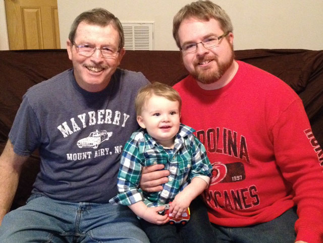 John Adriance with his grandson Jason and son Patrick Adriance. Provided photo