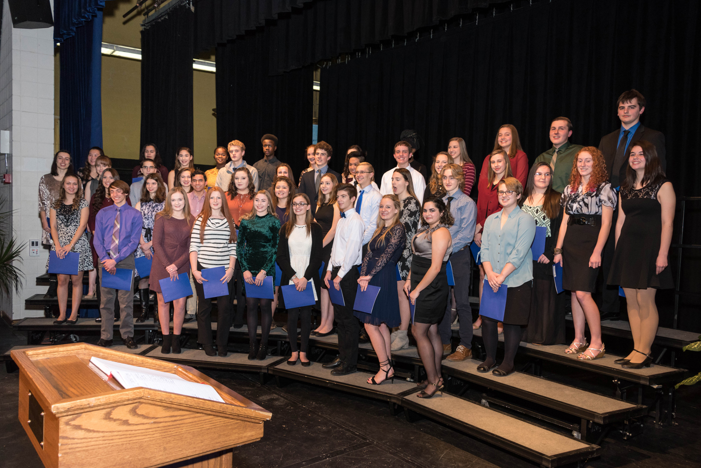 Brockport High School's new inductees into the National Honor Society. Provided photo