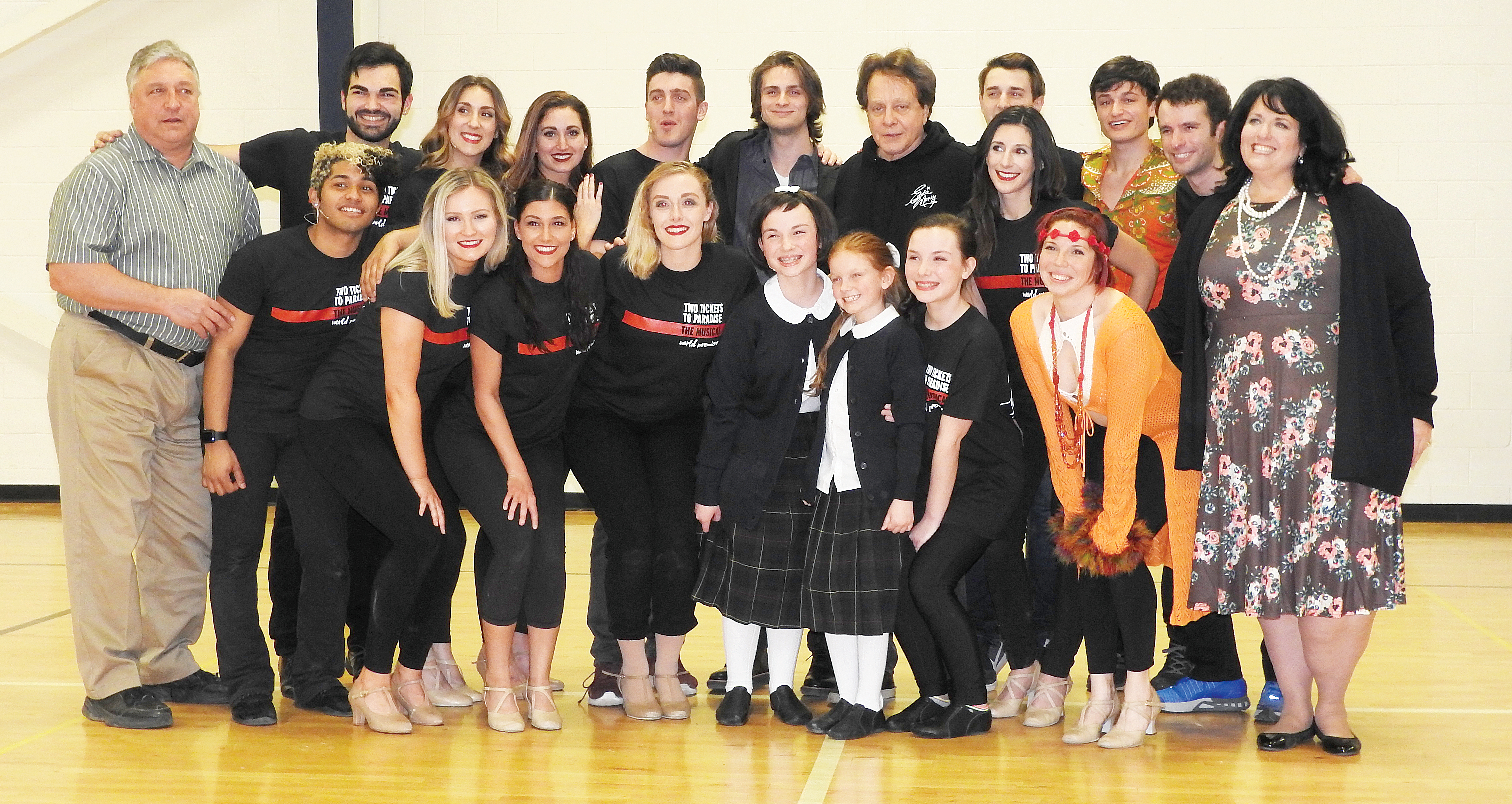 "Cast of ""Two Tickets to Paradise – The Eddie Money Musical."" K. Fien photo"