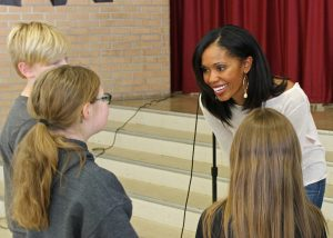 Students had the opportunity to meet international ballet star Aesha Ash in person after the formal presentation. Provided photo