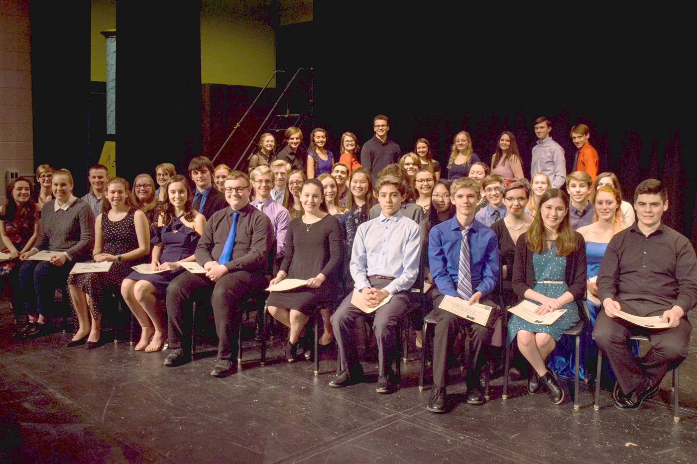 Brockport's Tri-M Music Honor Society inducted new members on March 21. Provided photo