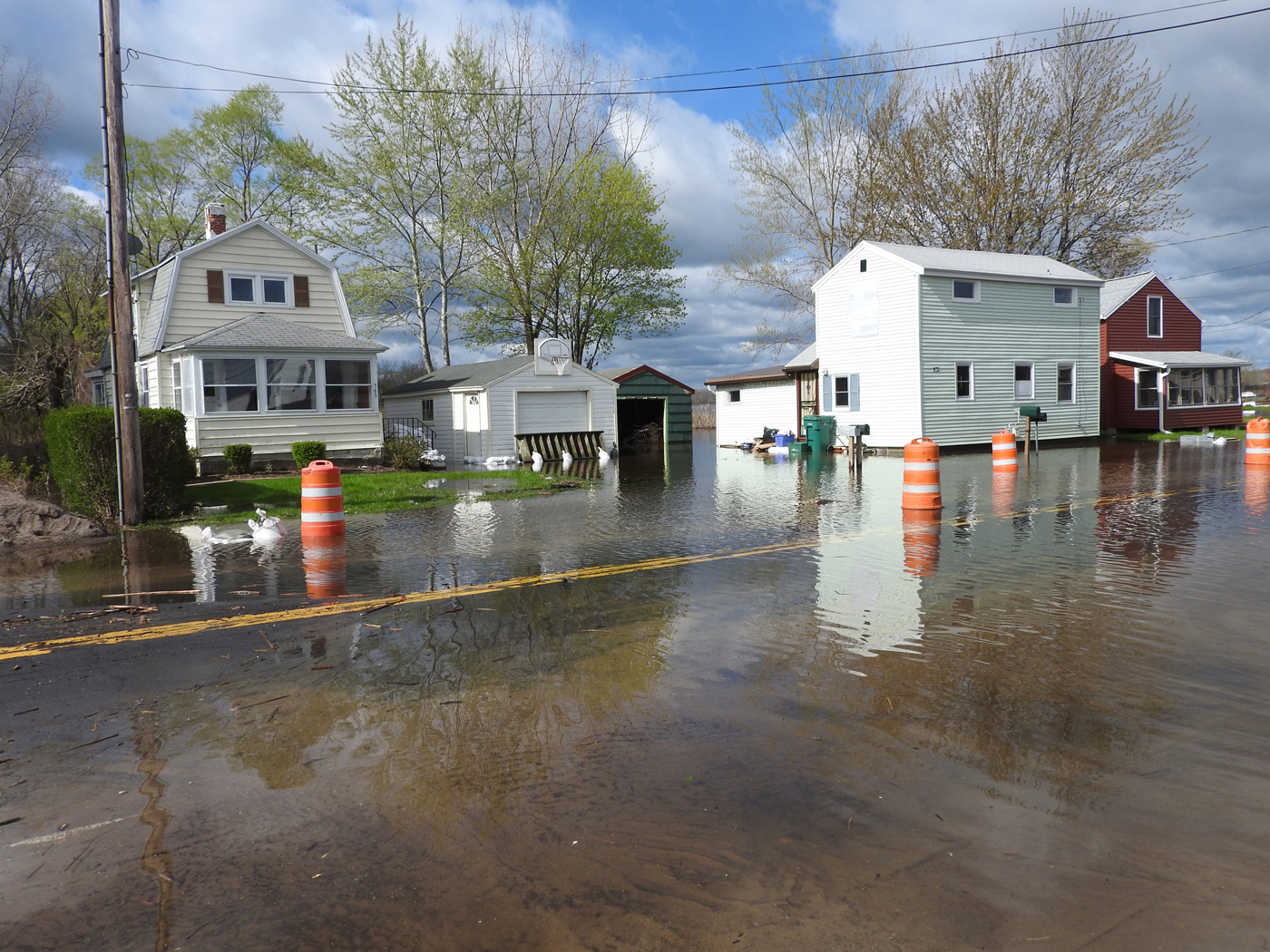 May 2017 flooding along Edgemere Drive in Greece. Photo by Karen Fien
