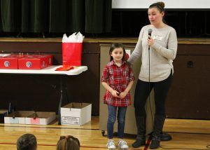 Honorary Heart Hero first-grader Leighla Garrand with mother Tawna Bailey.