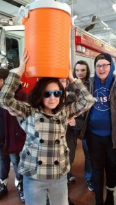 The water was turned off during the event. Students carried water to the church from the North Greece Fire Department.