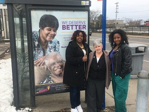 Pictured from left to right, Home Health Aide Shuanie Williams, former Homecare Client Pat Mannix, Home Health Aide Kimberly Balkum. Provided photo