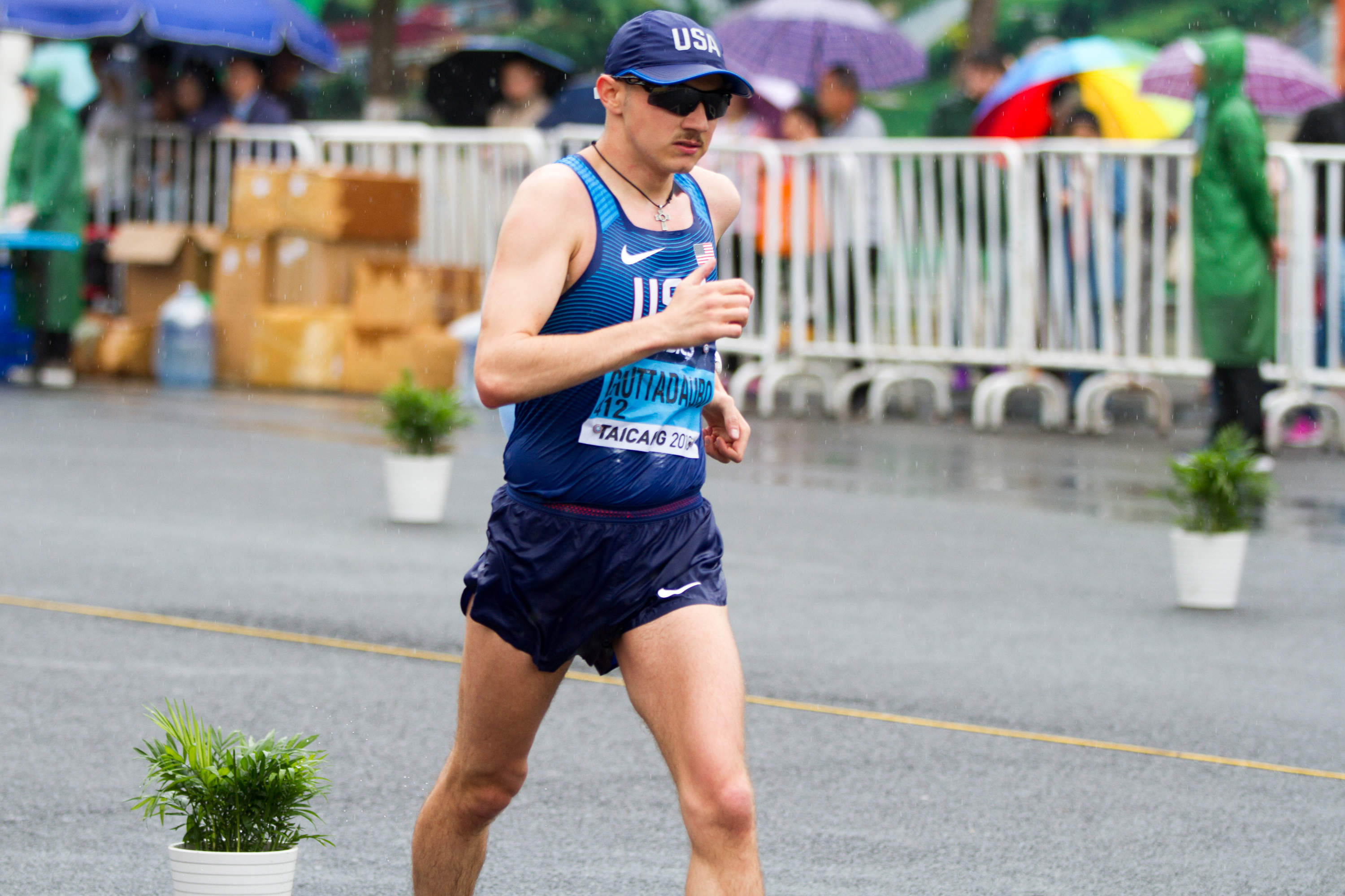 AJ Gruttadauro in competition in China. Photo courtesy of Race Walk Pictures. Provided photo