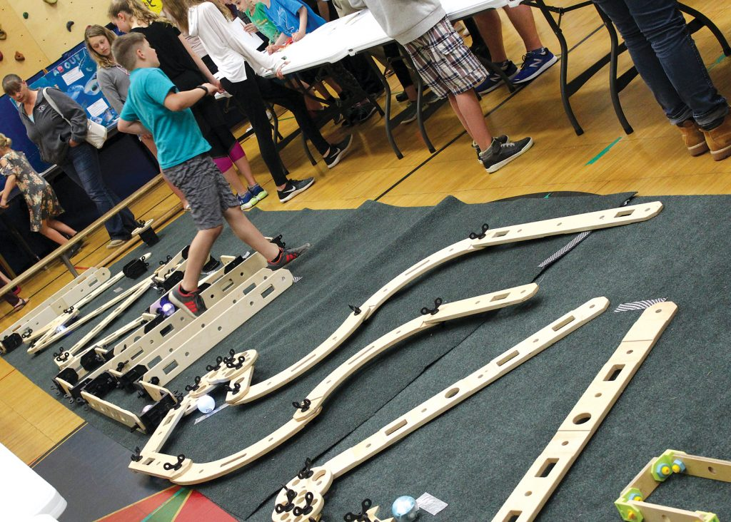 Byron-Bergen Elementary school students created a miniature golf course designed to be navigated by robot golf balls.