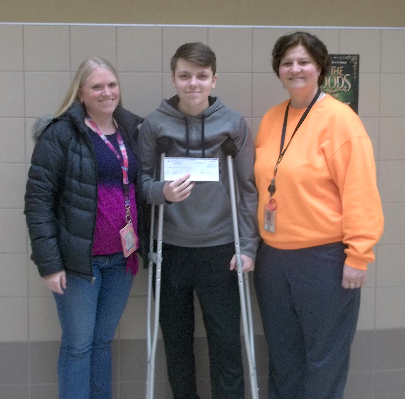 Logan and his Mom, Annie, with Mary Pat Dewey. Provided photo