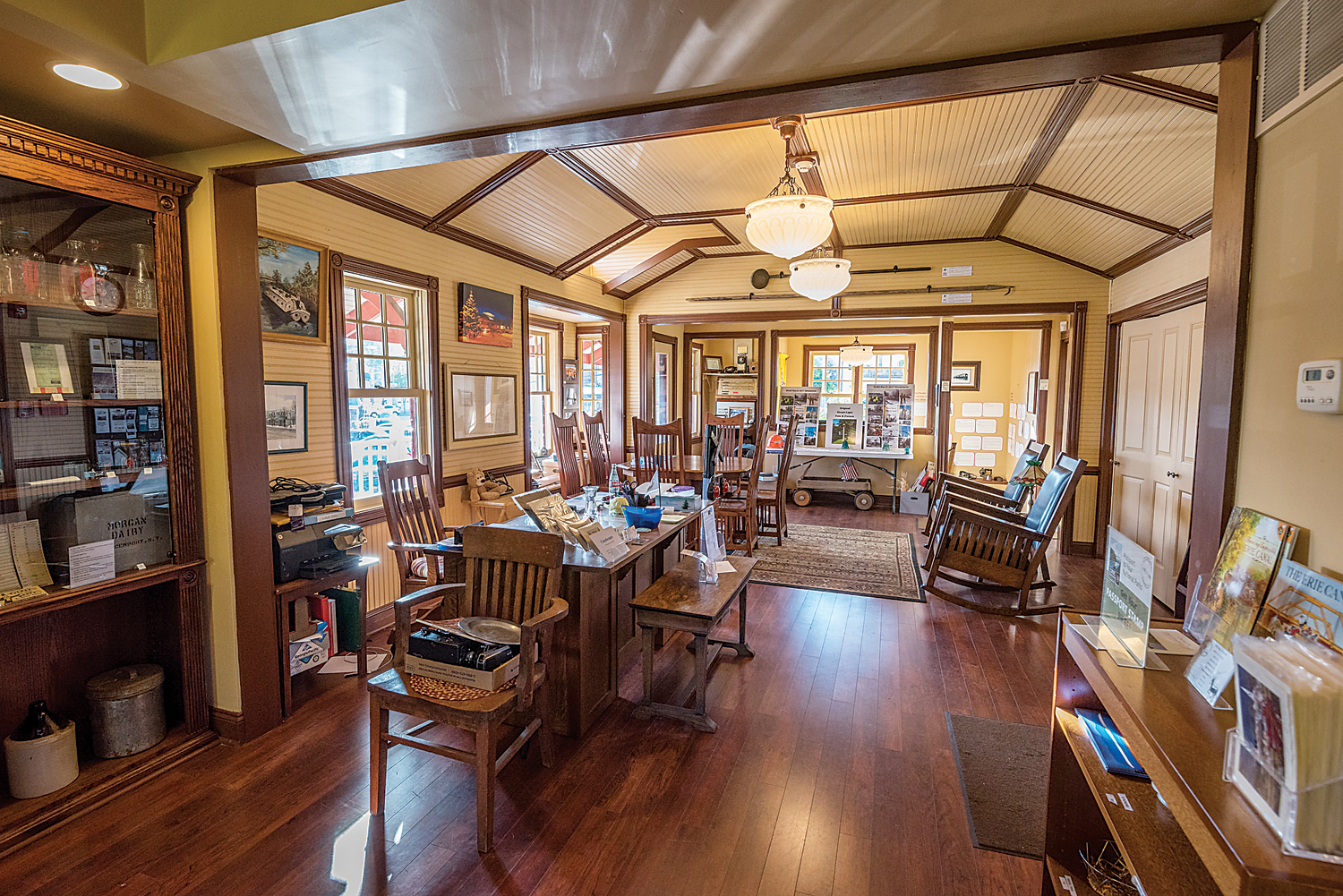A look inside the Spencerport Depot and Canal Museum. Photo by Joe Pompili