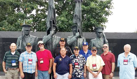 Assemblyman Steve Hawley (R,C,I-Batavia)[center] poses with veterans of the U.S. Air Force at a memorial honoring Air Force veterans during last year's Patriot Trip to Washington D.C. Provided photo
