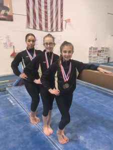Level 6 Team:  Left to right – Aliyah Gibson, Katie Kull, Carly Liberman. Provided photo