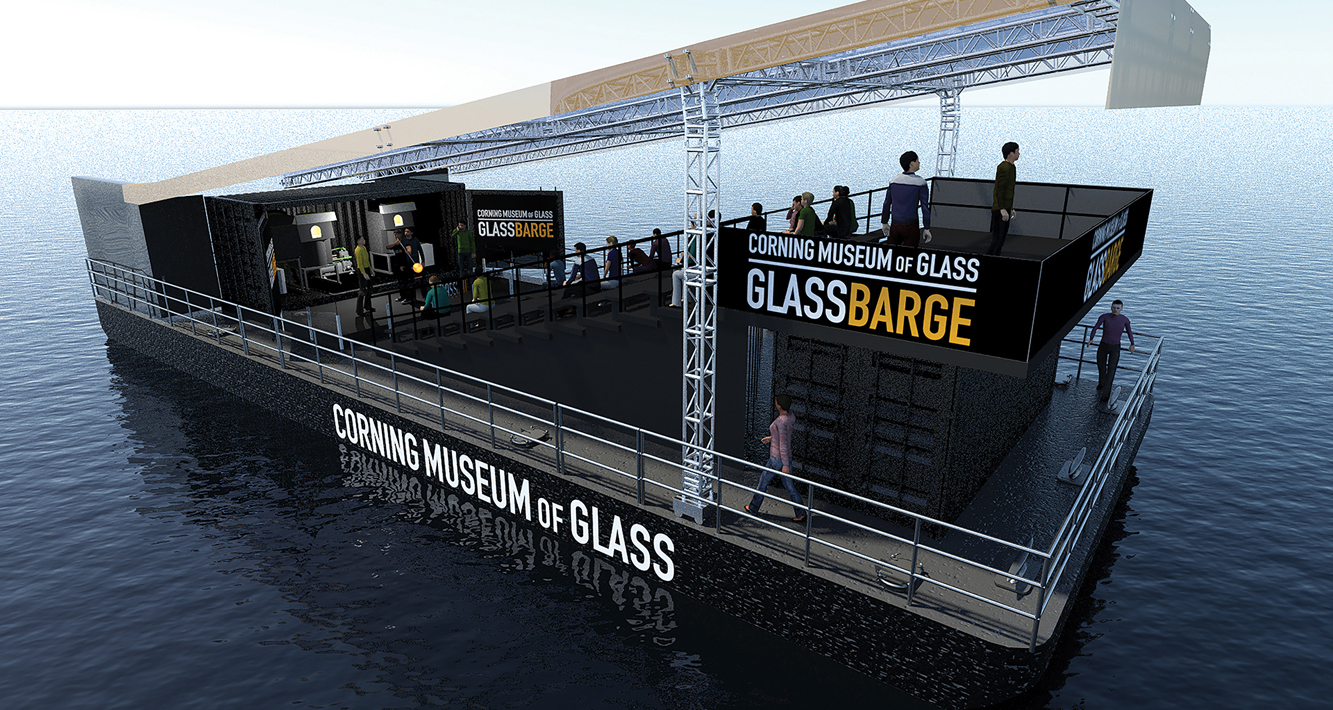 Rendering of GlassBarge 2018