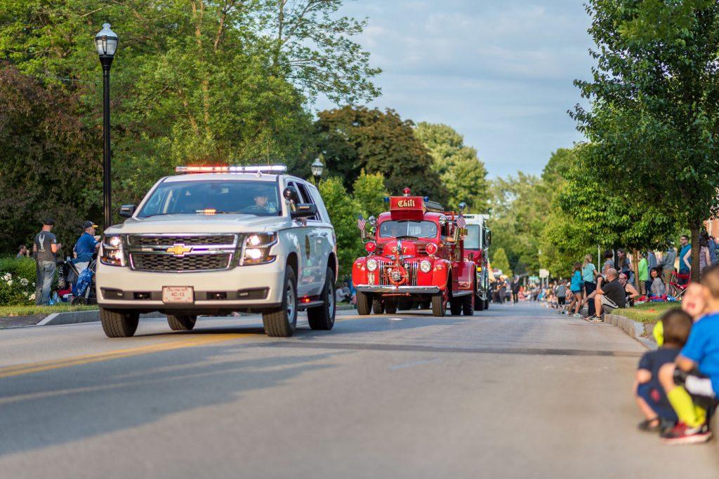 Firetruck at parade