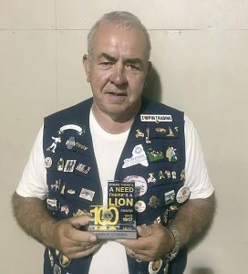 Jim Schiebel is a charter member of the Hilton Lions Club and has served for 50 years.