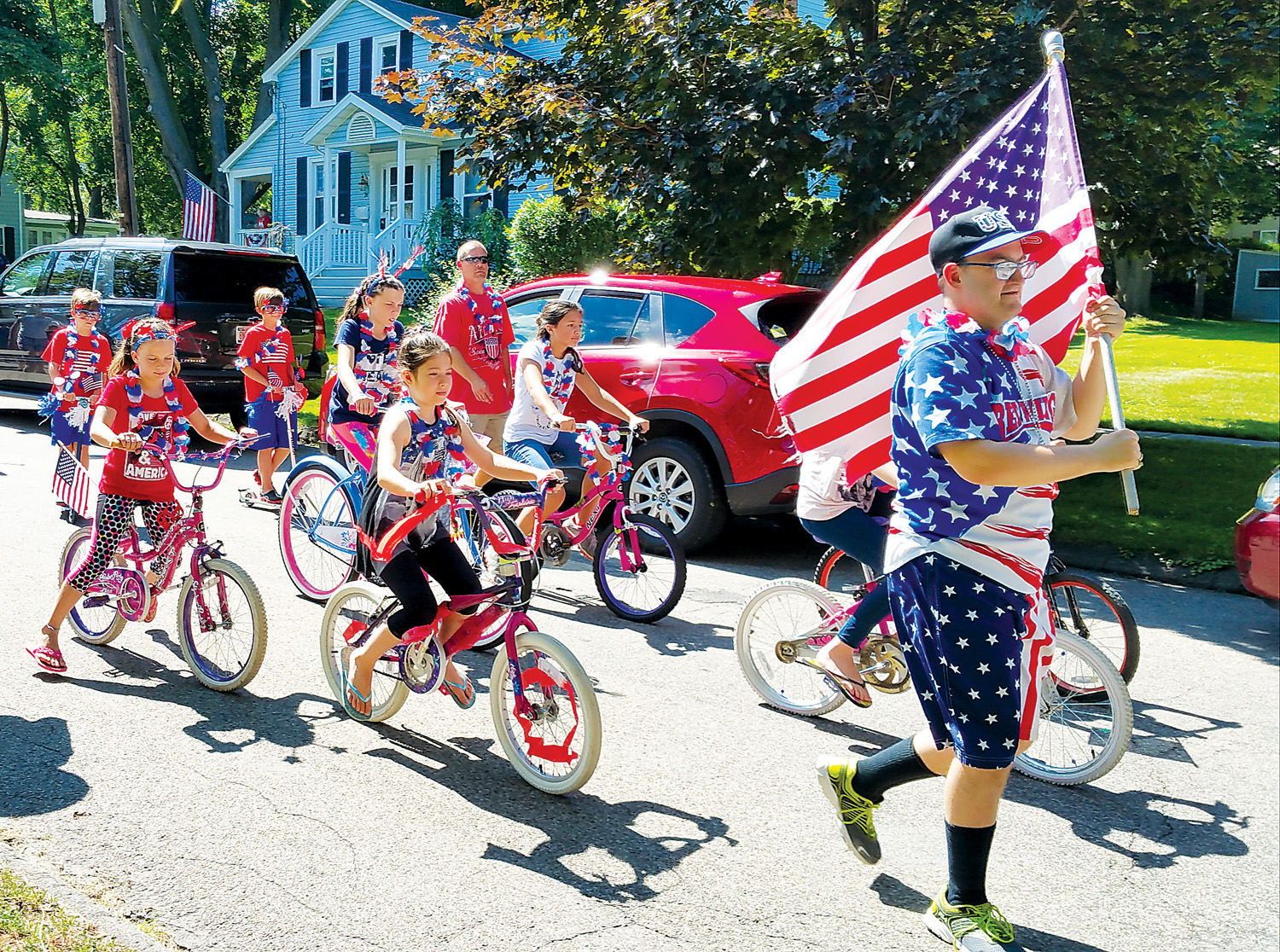 Part of the Children's Parade in last year's Old Fashion Fourth of July celebration at the Morgan-Manning House. Photo by Dianne Hickerson