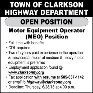 Town of Clarkson Highway 2x2