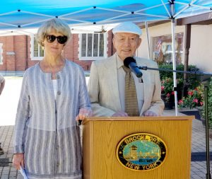 Mayor Margaret Blackman and Village Historian William Andrews participated in the event.