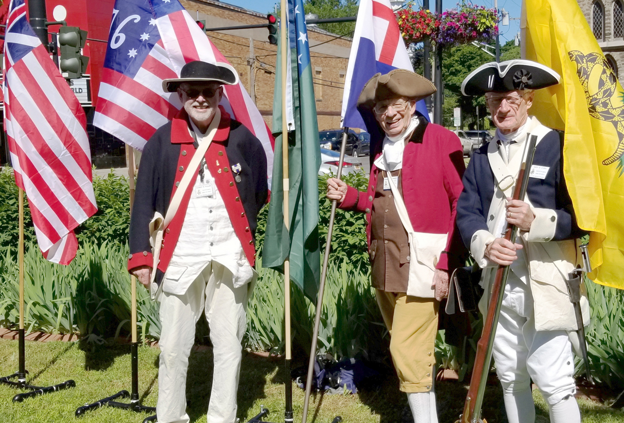 Sons of the American Revolution also attended the event.