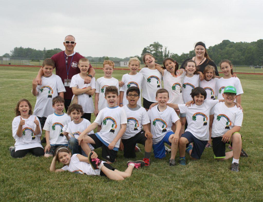 Team Ireland celebrates at the Elementary School Jr. Olympics on June 13. Provided photo